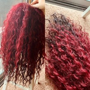 GORGEOUS WIG // CURLY // BURGUNDY + BROWN